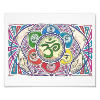 Mandala With Four Hands Print Photo