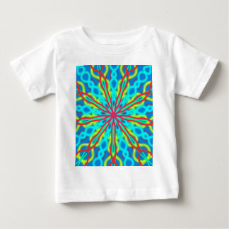 Mandala With Red Aqua And Yellow Baby T-Shirt