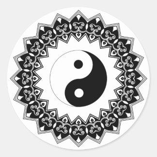 Mandala Yin Yang Large Sticker