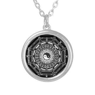 Mandala Yin Yang Lotus & I ching Necklace