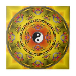 mandala yin yang tile