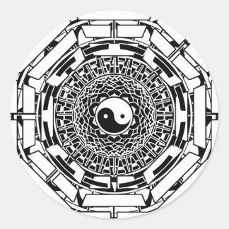 Mandala Yin Yang (white) Sticker