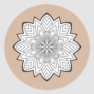 Mandalas Classic Round Sticker