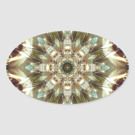 Mandalas from the Heart of Change 10, Gift Items Oval Sticker