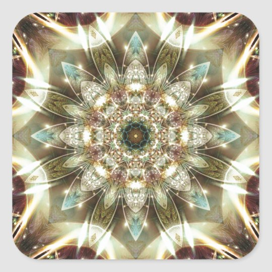 Mandalas from the Heart of Change 10, Gift Items Square Sticker