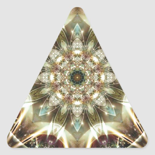 Mandalas from the Heart of Change 10, Gift Items Triangle Sticker