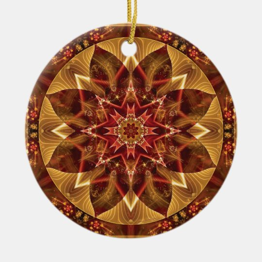 Mandalas from the Heart of Change 15, Gift Items Ceramic Ornament