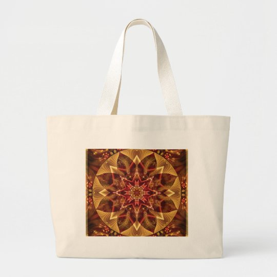Mandalas from the Heart of Change 15, Gift Items Large Tote Bag