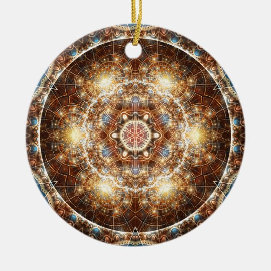 Mandalas from the Heart of Change 17, Gift Items Ceramic Ornament