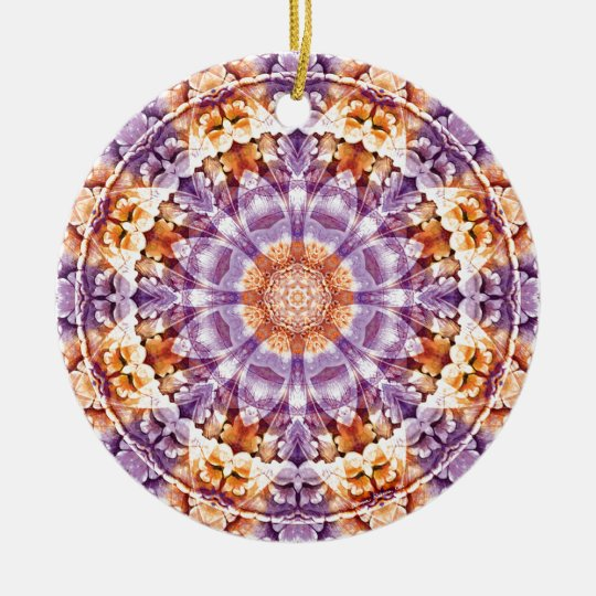 Mandalas from the Heart of Change 19, Gift Items Ceramic Ornament
