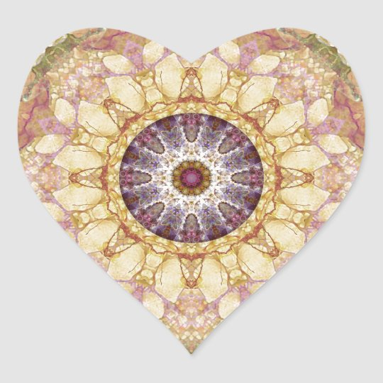 Mandalas from the Heart of Change 2, Gift Items Heart Sticker