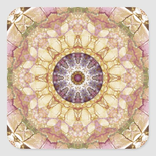 Mandalas from the Heart of Change 2, Gift Items Square Sticker