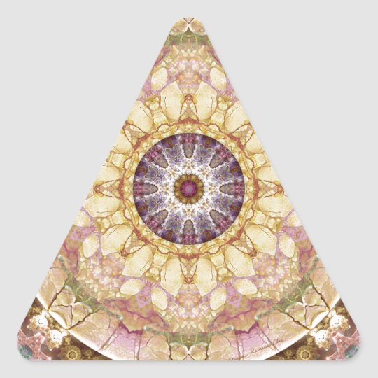 Mandalas from the Heart of Change 2, Gift Items Triangle Sticker