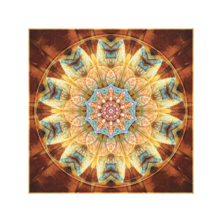 Mandalas from the Heart of Change 4 Wrapped Canvas