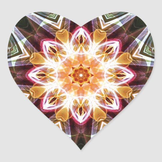 Mandalas from the Heart of Change 5, Gift Items Heart Sticker