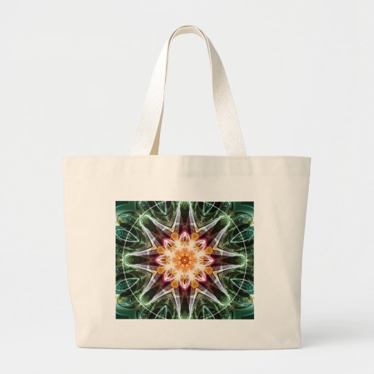 Mandalas from the Heart of Change 5, Gift Items Large Tote Bag