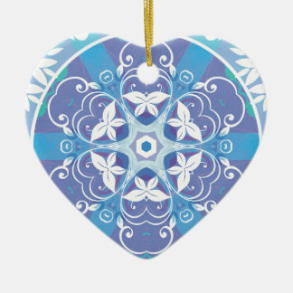 Mandalas from the Heart of Freedom 10 Gifts Ceramic Ornament