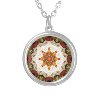 Mandalas from the Heart of Freedom 16 Gifts Silver Plated Necklace