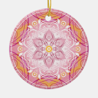 Mandalas from the Heart of Freedom 1 Gifts Ceramic Ornament