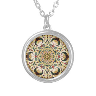 Mandalas from the Heart of Freedom 22 Gifts Silver Plated Necklace
