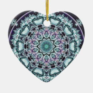 Mandalas from the Heart of Freedom 4 Gifts Ceramic Heart Ornament