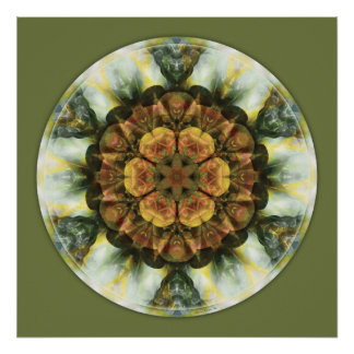 Mandalas from the Heart of Peace, No. 9 Poster