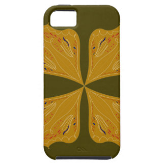 Mandalas gold on olive case for the iPhone 5