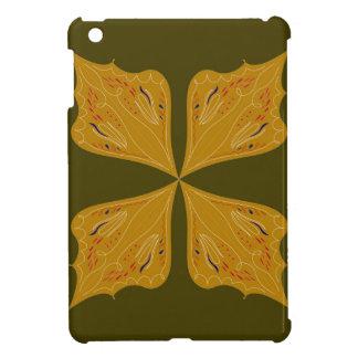 Mandalas gold on olive iPad mini case