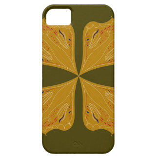 Mandalas gold on olive iPhone 5 case
