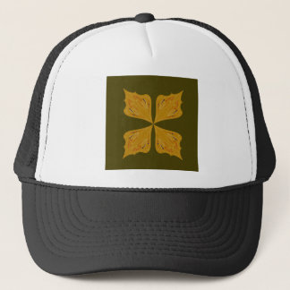 Mandalas gold on olive trucker hat