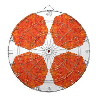 Mandalas : Nostalgia edition Orange Dartboard