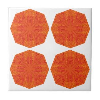 Mandalas : Nostalgia edition Orange Tile