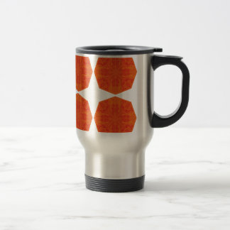 Mandalas : Nostalgia edition Orange Travel Mug