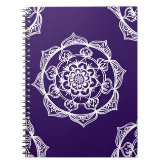 Mandalas on Purple Notebook