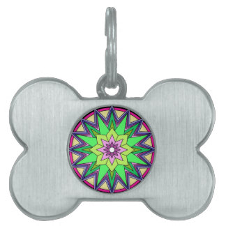 Mandalas Pet Name Tag