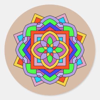 Mandalas Round Sticker