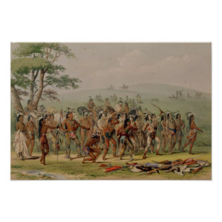 Mandan Archery Contest, c.1832 Poster