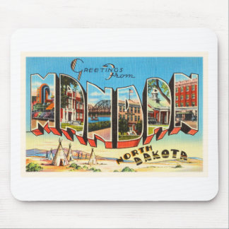 Mandan North Dakota ND Old Vintage Travel Souvenir Mouse Pad