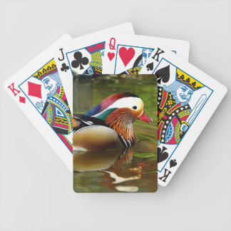 Mandarin Duck Bicycle Playing Cards