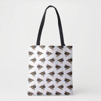 Mandarin Duck Frenzy All Over Print Bag