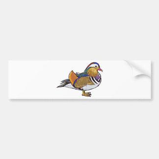Mandarin Duck Sketch Bumper Sticker