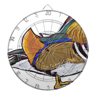 Mandarin Duck Sketch Dartboard