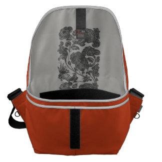 mandarin duck style orange courier bag