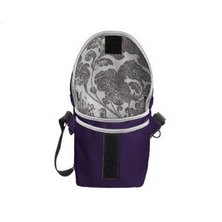 Mandarin duck style violet commuter bag
