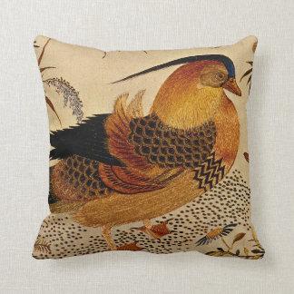 Mandarin Duck Throw Pillows