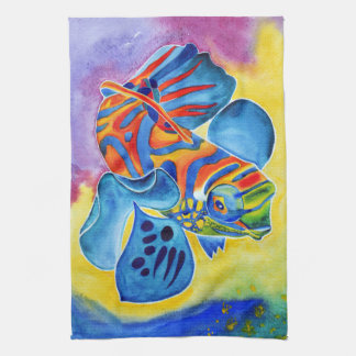 Mandarin Fish design kitchen towel