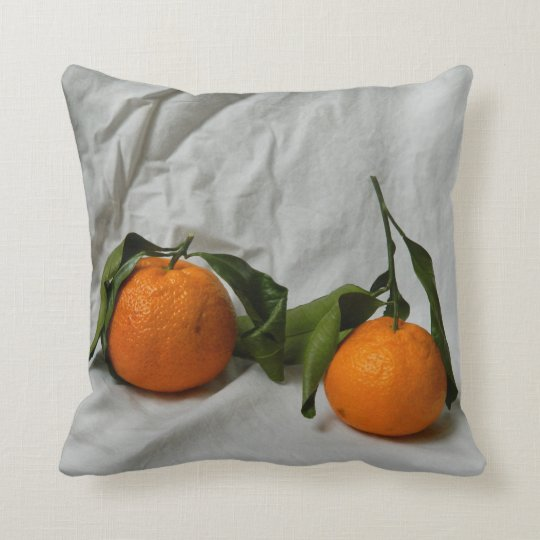 Mandarin Orange Throw Pillow