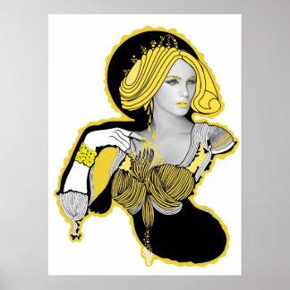 Mandarina Yellow Diva Poster