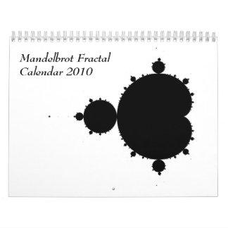 Mandelbrot Fractal Calendar 2010
