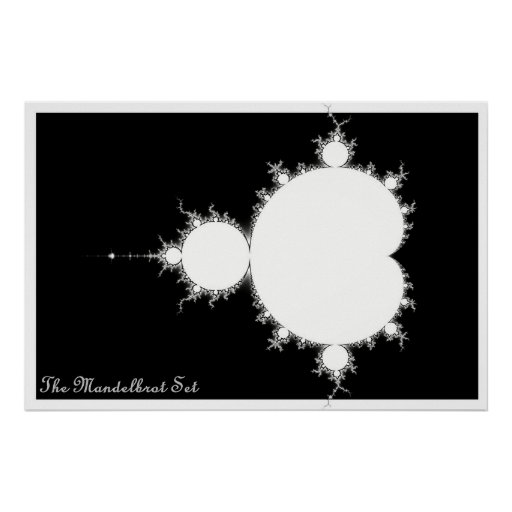 Mandelbrot Set (Negative) Poster